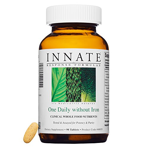 INNATE Response Formulas - One Daily Without Iron, Herb & Iron Free Multivitamin with FoodState Nutrients, 90 Tablets