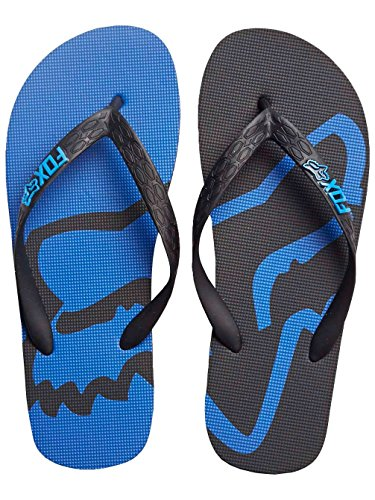 Fox Racing Beached Mens Sandal Flip Flops - Black/Blue - 7