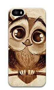 3D Hard Plastic Case for iPhone 5 5S 5G,Cute Owl Case Back Cover for iPhone 5 5S