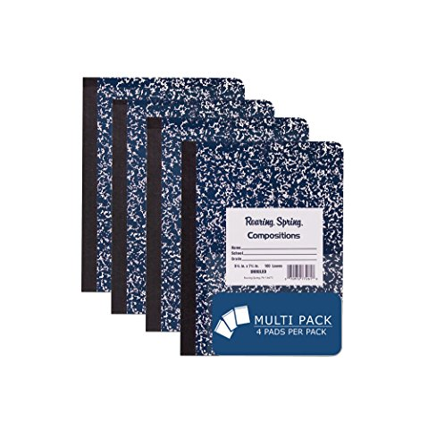 Roaring Spring Hard Cover Composition Book, 9 3/4'' x 7 1/2'', Unruled, 100 sheets, 4/pack by Roaring Spring