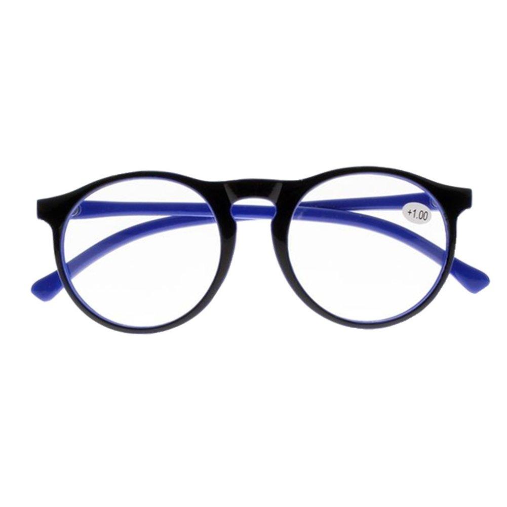 a6544c867e8 Amazon.com  Woman Vintage Stylish Simple Oversized Oval Frame Reading  Glasses (Blue