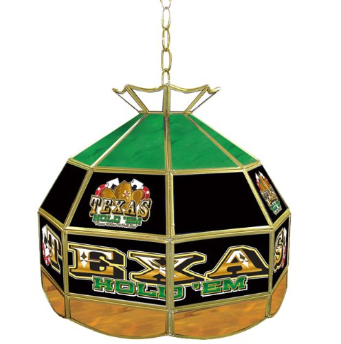 Texas Hold 'Em Tiffany Gameroom Lamp, (Texas Holdem Stained Glass)
