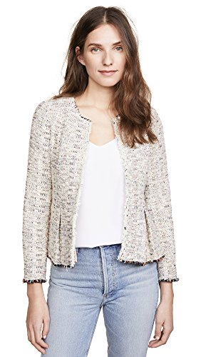 Rebecca Taylor Women's Rainbow Tweed Jacket, Multi, 12