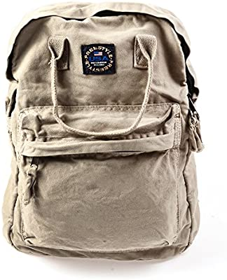 3f4afc37dfde Amazon.com | KISS GOLD(TM) Vintage Canvas Backpack Travel Daypack Schoolbag  Bookbag Floppy Small Size, Khaki | Backpacks