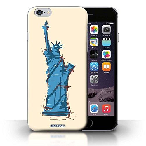 Hülle Case für iPhone 6+/Plus 5.5 / Freiheitsstatue Entwurf / Wahrzeichen Collection