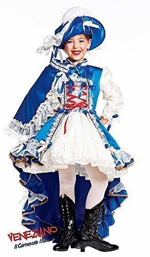 Italian Made Prestige Super Deluxe Baby & Older Girls French Musketeer Historical Carnival Pageant Fancy Dress Costume Outfit 0-10 Years (5 Years)