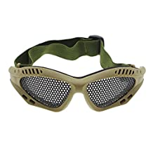 GGG Outdoor Sports Protection Steeling Steel Mesh Goggle Sun Glasses Elastic Tactical Airsoft