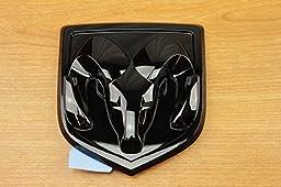 Dodge Ram 1500 Black Ram Head Tailgate Emblem Decal Logo Mopar OEM
