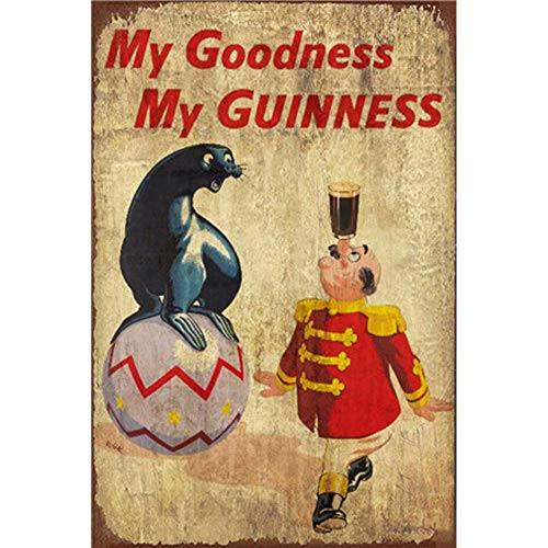 YOMIA Vintage Metal Signs Wall Plaque Posters Metal Cafe Painting Tin Signs Framed Wall Art Home Decor Pub Fashion Metal Logo Funny Sign My Goodness My Guinness