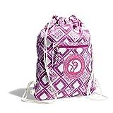Margaritaville Nylon Drawstring Backpack for Women Lightweight, Mosaic Fuchsia Pink For Sale