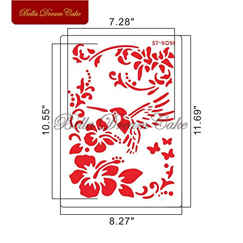 (1 piece 21 Kinds DIY Drawing Stencils For Walls Painting Flower Cake Stencil Decorative Embossing Template Cake Decorating Tool)