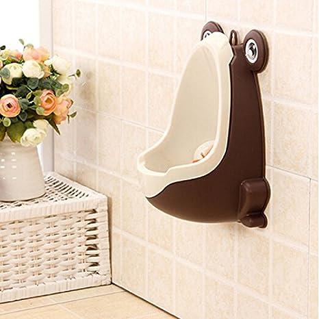 Urinario para niños, en forma de rana, para el cuarto de baño café ...