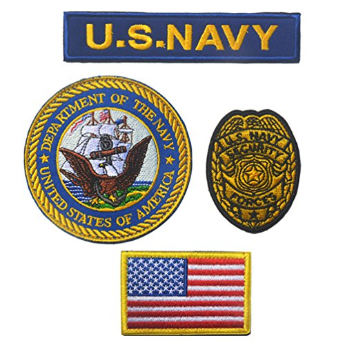 (Replacement for U.S Navy Patch Marine Corps Military Tactical Morale Badge Embroidered Patches)