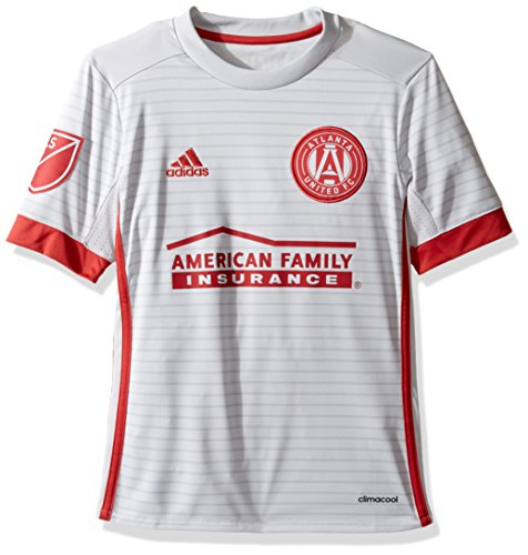 MLS Atlanta United Youth Unisex Replica Wordmark s/jersey, Light Grey, Small ()