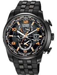 Citizen #AT9015-08E Men's Eco Drive Limited Edition Black IP Resin Band World Time Atomic Watch