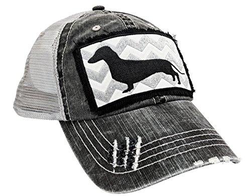 - Loaded Lids Women's, Customized, Dachshund Baseball Cap, Dog Hat (Grey/Customized)