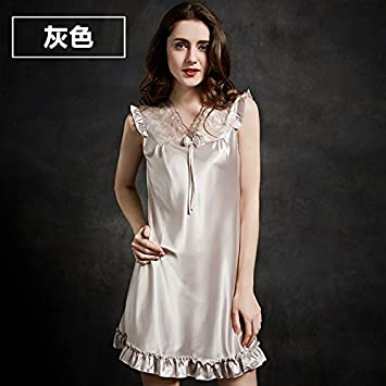TAOTINGYAN Sleep Dress,Camisón,Pijamas Para Mujer Una Camiseta Sin Mangas De Vestir Pijamas