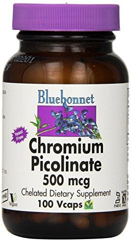 BlueBonnet Chromium Picolinate Vegetarian Capsules, 500 mcg, 100 Count