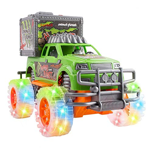 FanBell Friction Powered Off-Road SUV Jungle Dinosaur Car