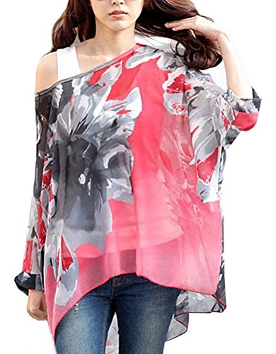 iNewbetter Womens Floral Batwing Sleeve
