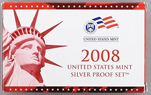 2008 S U.S. Mint 14-coin Silver Proof Set - OGP box & COA Proof