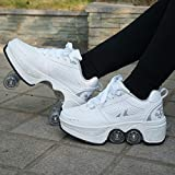 FECUAL Parkour Shoes Outdoor Deformation Roller