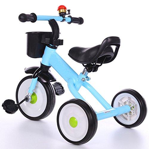QXMEI Triciclo De Bicicleta para Niños 1-3-5 Años Cochecito De Bebé A Caballo Niños Triciclo con Campanas Y Cesta...