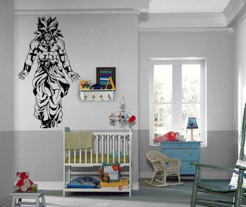 Amazoncom Dragon Ball Z Broly Saiyan Anime Manga Decor Wall - Dragon ball z wall decals