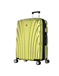 Olympia Luggage Vortex 24-Inch Mid-Size Hardcase Spinner, Green, One Size