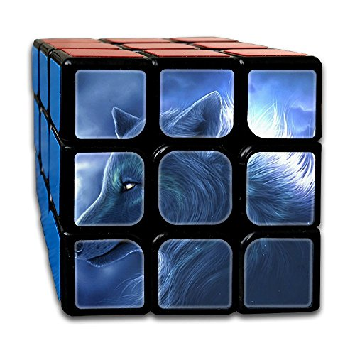 Ice Wolf 3x3x3 Speed Cube ABS Environment-friendly Plastics Smooth Magic Cube Puzzles