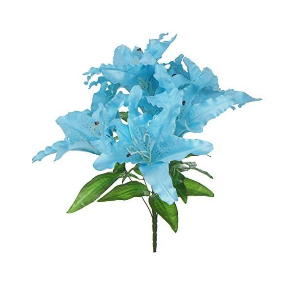 Lily-Garden-Large-Tiger-Lily-9-head-Silk-Flowers-Bush-Bouquet-Artificial
