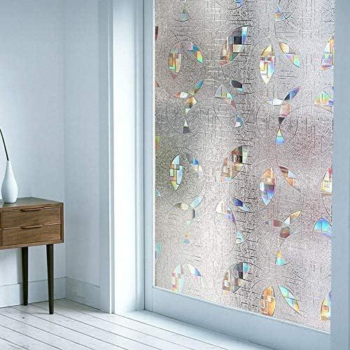 ガラスフィルム窓用フィルム非粘着性長期持続性Quick DIYは紫外線阻止のためのエッチングされた3D装飾の窓のフィルムを容易に取除きます