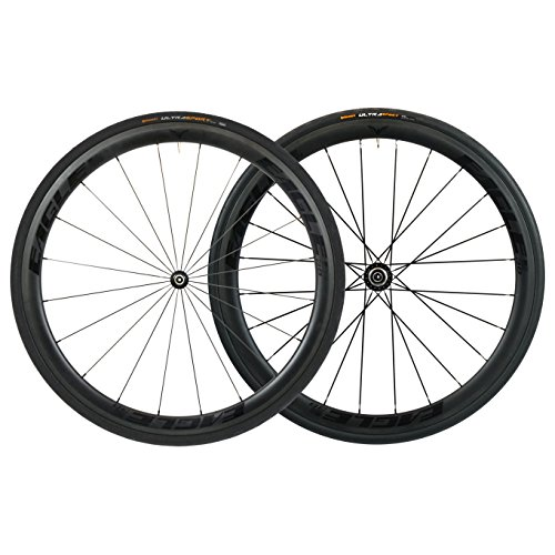 (Eagle Lightweight Carbon Fiber Clincher Wheelset in Black for Cycling - DT Swiss 240/Eagle 280 Hubs - Free Conti Tires (DT Swiss 240 HUB, Eagle 38/38 Carbon Clincher WHEELSET))