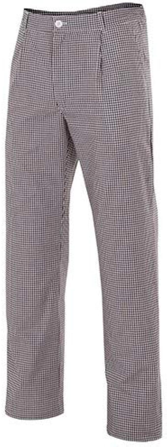 Bleu Marine Velilla Pantalon de Cuisine /à Carreaux 3 Poches 65/% Polyester 35/% Coton 120 GR//m2 351