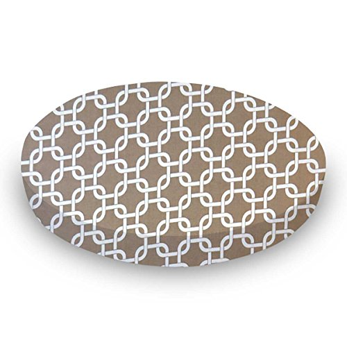 SheetWorld Round Crib Sheets - Camel Links - Made In USA by SHEETWORLD.COM