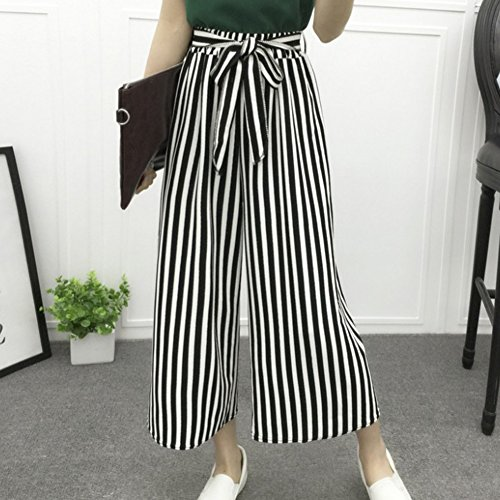 Jambe Pantalons Fit Large Blanc Leggings Mode Ceinture Loose Casual avec Femme pour Pantalon Pantalon Evas lgant Haute Taille Rzwzqn7d