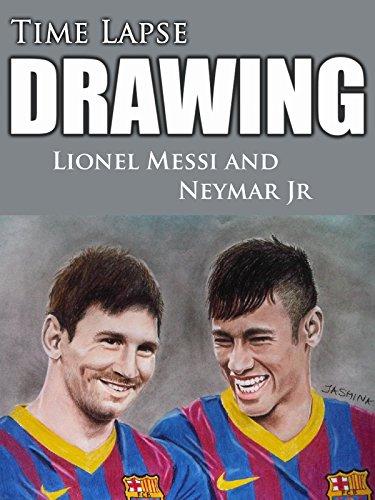 best service 1d831 7e254 Clip  Time Lapse Drawing Lionel Messi and Neymar Jr