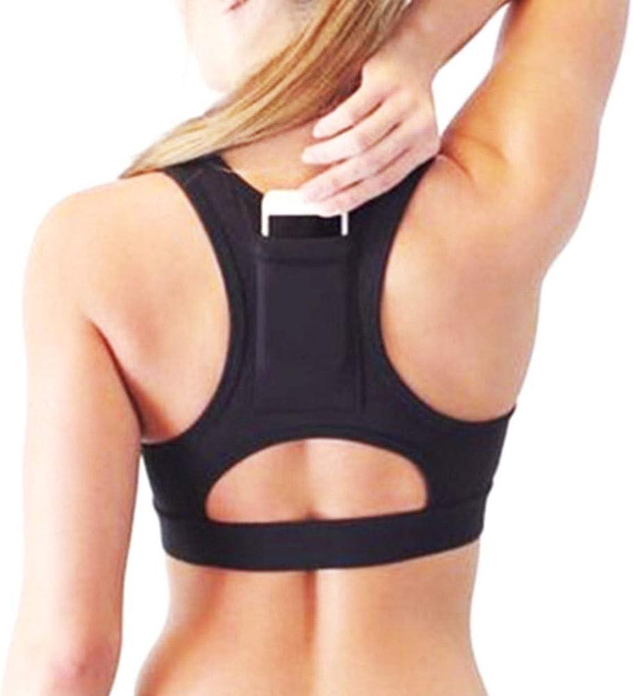 Frauen-Sport-BH mit Taschen Nahtlose Yoga Westentasche Fitness BH Weste Laufe