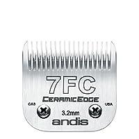 """Andis CeramicEdge, cuchilla cortapelos de acero con infusión de carbono, tamaño-7FC, longitud de corte de 1/8 """"(64240)"""