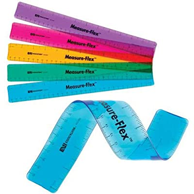 "EAI Education 12"" Measure-Flex Ruler: Assorted Colors - Set of 10: Toys & Games"