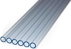 PrimoChill 1/2in. O.D. Rigid PETG Tube - 6 x 30in. - UV Blue