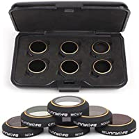 CZFRIEND Camera Lens Filter Set Accessories 6-Pack for DJI MAVIC PRO Drone Quadcopter - ND4+ND8+ND16+ND32+CPL+MCUV