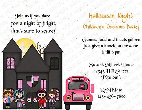 Personalized Halloween Invitation (halloween127) (sold in packs of (Personalized Halloween Invitations)