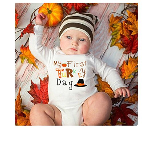 Ecosin/® Baby Hallowmas Long Sleeve Letter Print Romper Jumpsuit Outfits