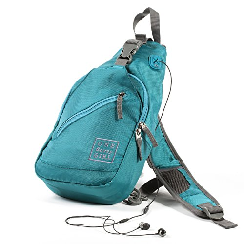 Sling Backpack for Women - Comfortable and Stylish Shoulder Backpacks with Multiple Compartments and Headphone Cord Access - Perfect Sized Crossbody Bags for Hiking, Walking, Travel, & More by One Savvy Girl (Image #8)