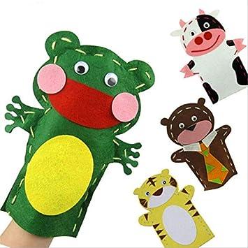 changshuo Felpa Marioneta 1pcs Bebé Regalo De Cumpleaños Trabajo Hecho A Mano DIY Marionetas De Dedo Educación Artesanal Juguetes Entrega Aleatoria