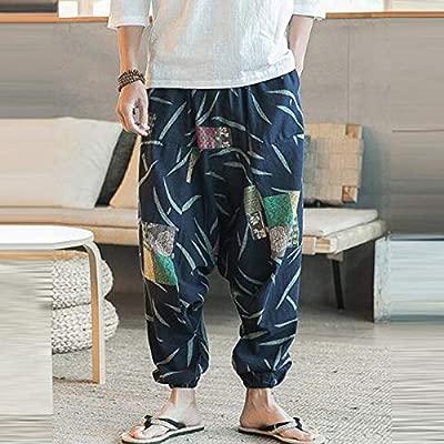 Gusspower Pantalones De Harén Bombachos Hombre Mujer,Unisex para Yoga Cómodo Ancho Harem Pants con Entrepierna Casual Festival Delantal Hippie Alta ...