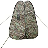 Vicvily Portable Privacy Shower Toilet Tent Camping Pop Up Tent Camouflage Changing Tent