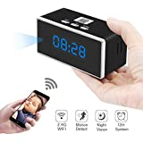 Hidden Spy Camera, ZTCOO Mini Hidden Clock Camera Wi-Fi,Secret Camera with Motion Detection, Night Vision, Video Recorder, HD Wireless Nanny Cam for Home Security
