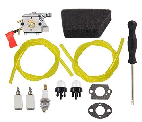 Carburetor Fuel Line Filter Primer Bulb Carb for Craftsman Sears Poulan 32cc Gas Trimmer Weedeater Pole Pruner PPB100 PPB200 PPB300 PPB350 PP031 PP033 PP035 PP036 PP131 PP135 PP136 PP336 PP446T 31WG by MOTOKU